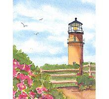 Aquinnah Gay Head Lighthouse  Photographic Print