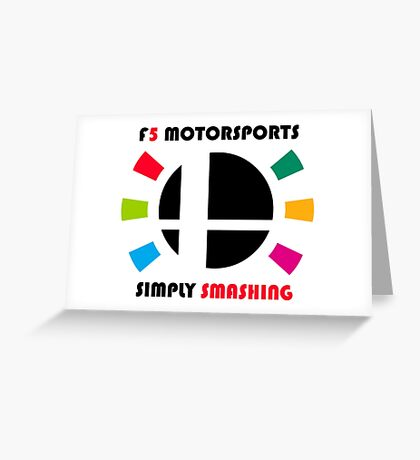 F5 Motorsports Greeting Card