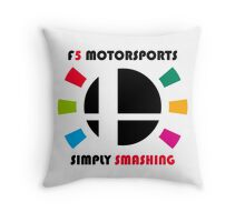 F5 Motorsports Throw Pillow