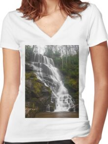 Waterfall Women's Fitted V-Neck T-Shirt
