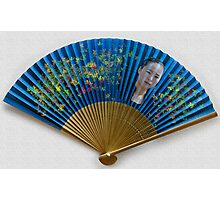 Lady on a fan Photographic Print