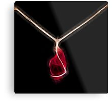 intense red crystal gold necklace mon bijou by neonflash Metal Print