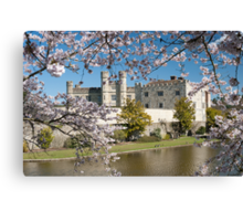 Easter Blossom: Leeds Castle. Kent UK Canvas Print