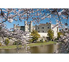 Easter Blossom: Leeds Castle. Kent UK Photographic Print