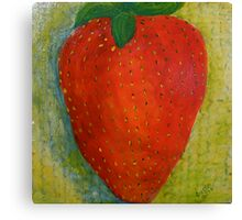 Strawberry, No Cream Canvas Print