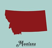 Montana - States of the Union by Michael Bowman