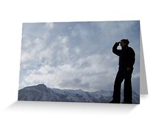 Robinzon in the mountains Greeting Card