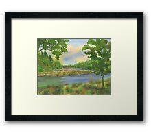 Roseann Meserve Watercolors Squamscott River - Newfields NH Framed Print