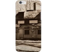 Abandoned Home in Daguerreotype iPhone Case/Skin