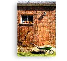 Brick Garage Canvas Print