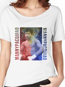 "Manny Pacquiao ""Pac-Man"" Women's Relaxed Fit T-Shirt"