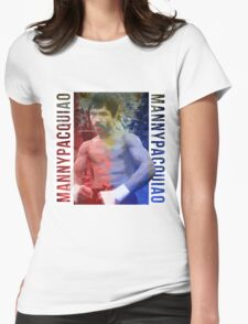 """Manny Pacquiao """"Pac-Man"""" Womens Fitted T-Shirt"""
