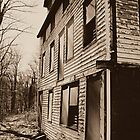 Back View of the Deserted Mill Workers Home in Daguerreotype  by Jane Neill-Hancock