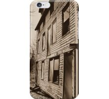 Back View of the Deserted Mill Workers Home in Daguerreotype  iPhone Case/Skin