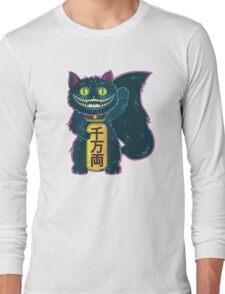 THE CHESHIRE MANEKI-NEKO CAT Long Sleeve T-Shirt