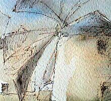 Greek Windmills by Franz Roth