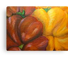 Illustrated Peppers Canvas Print