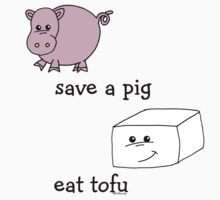 Save a Pig Eat Tofu Kids Clothes