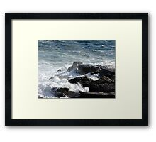Froth and Fangs (2) Framed Print