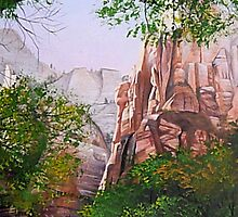 Zions Canyon # 3 by Maria Hathaway Spencer