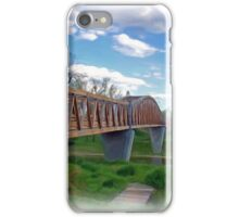 Bridge Over River in Northern California iPhone Case/Skin