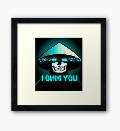 Mortal Kombat X Raiden: I OHM YOU. Framed Print
