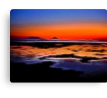 beautiful sunset seascape landscape Canvas Print