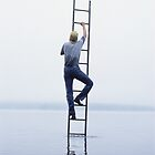 ladder #5, (self portrait) by Stephen Sheffield