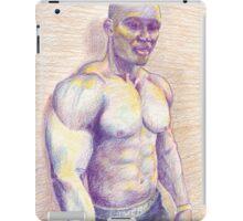 Black Bodybuilder iPad Case/Skin