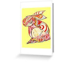 conejo Greeting Card
