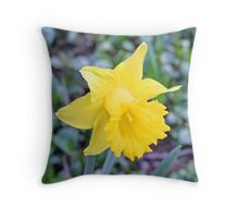 """Yellow Daffodil"" Throw Pillow"