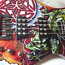 painted guitar by Nathan Howell