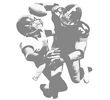 Touchdown Football Player Collection Photographic Print