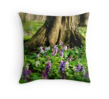 Under trees Throw Pillow