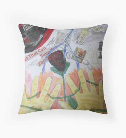 My Hands Are Tied Throw Pillow
