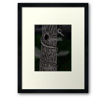 Stick Figure Framed Print