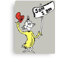 Dr Seuss Sam I Am Canvas Print