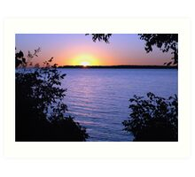 Sunrise at Alcona Beach, Lake Simcoe, Ontario Art Print