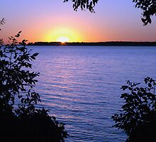 Sunrise at Alcona Beach, Lake Simcoe, Ontario by Helena Haidner