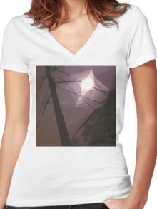 8:42, Lost in Suburbia Women's Fitted V-Neck T-Shirt