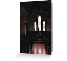 Light streaming Greeting Card