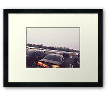 4:56, Rain soaked parking lot Framed Print