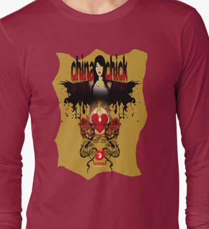 flaming heart Long Sleeve T-Shirt