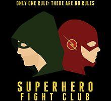 Superhero Fight Club by vrink