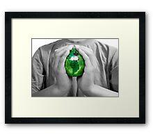 Earth Care - Green Energy Framed Print