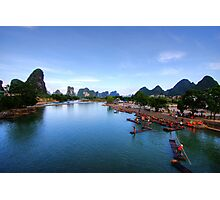 Li-River at Yangshuo Photographic Print