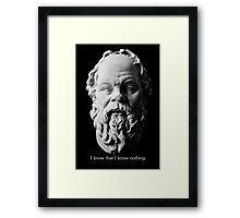 I know that I know nothing - Socrates Framed Print