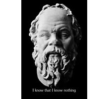I know that I know nothing - Socrates Photographic Print