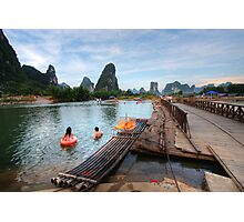 Swimmers in the Li-River Photographic Print