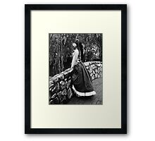 Overlooking the Bridge Framed Print
